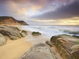 Surf at Gray Whale Cove, California, USA Photographic Print by Patrick Smith