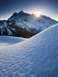Winter Sunrise over Mount Shuksan from Kulshan Ridge, Mount Baker Wilderness, Washington, USA Photographic Print by Geoffrey Schmid