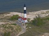 Big Sable Point Lighthouse, Michigan, USA Photographic Print by Jeffrey Wickett