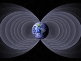 Conceptual Illustration of the Earth's Magnetic Field Photographic Print by Carol & Mike Werner