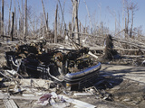 A Neighborhood Destroyed by Hurricane Katrina in Waveland, Mississippi, USA Photographic Print by Jon Van de Grift