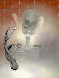 Anti-Smoking Biomedical Illustration of a Chain Smoking Human Skeleton Photographic Print by Carol & Mike Werner