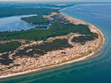 Big Sable Point on Lake Michigan and Hamlin Lake, Michigan, USA Photographic Print by Jeffrey Wickett
