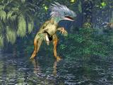Painting of Utahraptor Dinosaur (Utahraptor Ostrommaysi) Photographic Print by Carol & Mike Werner