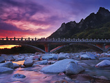 Stone Bridge at Dawn, Seoraksan National Park, South Korea Photographic Print by Geoffrey Schmid