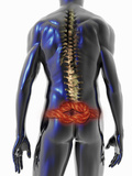 Illustration of a Man Suffering from Back Pain Photographic Print by Carol & Mike Werner