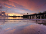 Stearns Wharf, Santa Barbara, California, USA Photographic Print by Patrick Smith