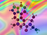 Molecular Model of Lsd (Lysergic Acid Diethylamide) Photographic Print by Carol & Mike Werner
