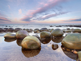 Sandstone Concretions, Bowling Ball Beach, Mendocino County, California, USA Photographic Print by Patrick Smith