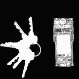 X-Ray of Keys and a Cell Phone Photographic Print by George Taylor