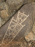 Petroglyph, Three Rivers Site, New Mexico, USA Photographic Print by Tom Walker