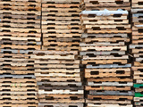 Stacks of Pallets at Pallet Recycling Business in Michigan, USA Photographic Print by Jeffrey Wickett