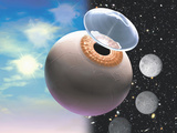 Artists Conception of a Contact Lenses That Can Be Used for a 24 Hour Period Photographic Print by Craig Zuckerman