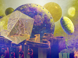 Artist's Concept of a Virus Invading a Human Cell Photographic Print by Carol & Mike Werner