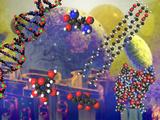 Illustration of the Building Block Molecules of Cells Fotografisk tryk af Carol & Mike Werner