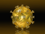 Glass Model of a Virus Photographic Print by Carol & Mike Werner
