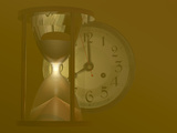 Hourglass and a Clock Photographic Print by Carol & Mike Werner
