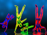 Breakdancers Showing Skeletons Photographie par Carol & Mike Werner