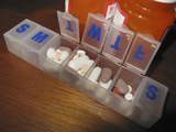 Daily Pill Reminder Containers with Medications Photographic Print by Carol & Mike Werner