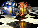Spheres with Reflections Photographic Print by Carol &amp; Mike Werner