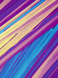 Benzoic Acid Crystals Viewed with Polarized Light, LM X40 Fotografisk tryk af Gladden Willis