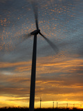 Wind Turbine Spinning Photographic Print by Tom Ulrich