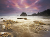 Sunset Light on Second Beach, Olympic National Park, Washington, USA Photographic Print by Geoffrey Schmid