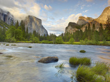 Yosemite Valley, Showing the Rapidly Flowing Merced River Photographic Print by Patrick Smith