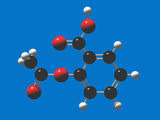 Aspirin Molecular Model, Acetylsalicylic Acid, Black = Carbon, White = Hydrogen, Red = Oxygen Lmina fotogrfica por Carol & Mike Werner