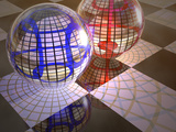 Spheres with Reflections Photographic Print by Carol & Mike Werner