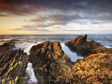 Waves Crashing on Rocks, Montana De Oro State Park, San Louis Obispo, Morro Bay, California, USA Photographic Print by Patrick Smith
