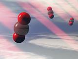 Carbon Dioxide Molecules Absorb Infrared Radiation Papier Photo par Carol & Mike Werner