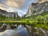 Granite Cliffs and Domes in Yosemite Valley Seen from Mirror Lake, Yosemite National Park Photographic Print by Patrick Smith
