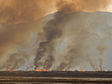 Controlled or Prescribed Burn, Bear River, Utah, USA Photographic Print by Leroy Simon