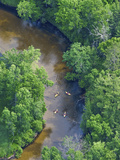 Kayaks on the Pere Marquette River, Michigan, USA Photographic Print by Jeffrey Wickett