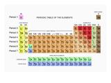 Den periodiske tabel Fotografisk tryk af Carol & Mike Werner
