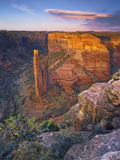 Spider Rock and Tse N T'Yul at Sunset, Canyon De Chelly, Navajo Tribal Land, Arizona, USA Photographic Print by Geoffrey Schmid