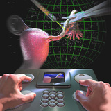 Futuristic Surgery, Removing a Growth from the Fallopian Tubes Photographic Print by Craig Zuckerman