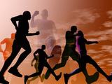 Løpere Fotografisk trykk av Carol & Mike Werner