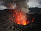 Strombolian Eruption of Mount Bromo Volcano, Tengger Caldera, Java, Indonesia Photographic Print by Richard Roscoe