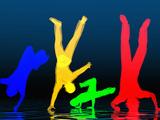 Breakdancer Fotografie-Druck von Carol & Mike Werner