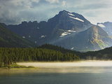Clearing Afternoon Thunderstorm over Swiftcurrent Lake in the Many Glaciers Area of Glacier Np Photographic Print by Geoffrey Schmid