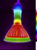 Thermogram of a Led Floodlight Photographic Print by  GIPhotoStock
