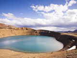Viti Is a Geothermal Lake in the Caldera or Crater Volcano Krafla, Iceland Photographic Print by Skarphedinn Thrainsson