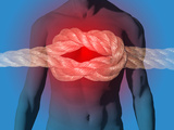 Illustration of a Knot in the Chest Illustrating Pain, Heart Attack Photographic Print by Carol & Mike Werner