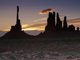 Totem Pole Formation at Dawn, Monument Valley Tribal Park, Utah, USA Photographic Print by Gustav Verderber
