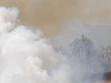 Smoke from a Grassland Fire Releases Carbon to the Atmosphere Along the Front Range, Colorado, USA Photographic Print by Jon Van de Grift