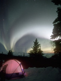 Aurora Borealis, Northern Lights, Alaska Mountain Range, Alaska, North America, USA Photographic Print by Tom Walker