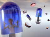 Medicated Children, Child in a Capsule Photographic Print by Carol &amp; Mike Werner