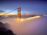 Layer of Low Fog and the Golden Gate Bridge, San Francisco, California, USA Photographic Print by Patrick Smith